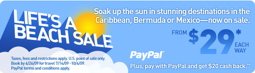 JetBlue - Life's a Beach Sale