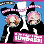 Buy One, Get One Free Sundaes @ Ben & Jerry's
