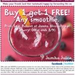 Buy One, Get One Free @ Jamba Juice [again!]