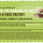 Starbucks: FREE Pastry w/Drink Purchase on Tuesday