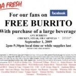 FREE Burrito at Baja Fresh with Drink Purchase: Tuesday!