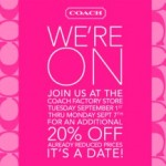 Coach Factory Stores: 20% Off Coupon