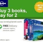 Get 3, Pay for 2: Lonely Planet Travel Books