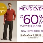 Banana Republic Factory Stores: Up to 60% Off Men's
