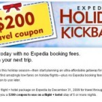 $200 Travel Coupon – Expedia Holiday Kickback