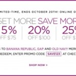 25% Off @ Gap, Banana Republic & Old Navy