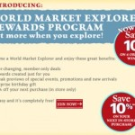 10% Off Coupon + World Market Rewards Program Offers