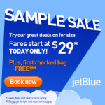 JetBlue $29 Flights Sample Sale: Today Only!