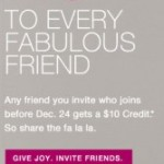 Free $10 Credit @ Rue La La: Invitation Code