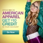 Reminder: American Apparel Sample Sale + $10 Credit!
