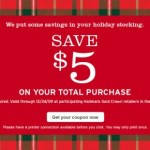 $5 Off Any $5 Purchase Coupon: Hallmark