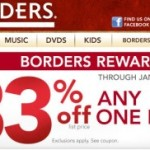 Borders: 33% Off Coupon for Online & In-Store