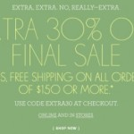 J.Crew: Extra 30% Off Final Sale Coupon Code