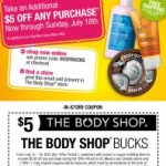 The Body Shop: $5 Off Coupon Code