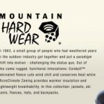 Mountain Hardwear Sample Sale