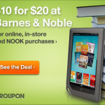 $20 Barnes & Noble Gift Card for $10 on Groupon