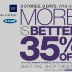 More Is Better: 35% Off Gap, Old Navy, Banana Republic