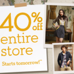 40% Off @ Banana Republic Factory Stores