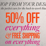 50% off everything at LOFT, plus free shipping