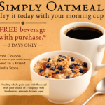 Free Drink @ Peet's Coffee w/Oatmeal Purchase