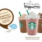 Starbucks Frappuccinos 50% Off: 3-5pm Happy Hour until May 13